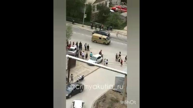 Пожар на Каландаришвили в Якутске. 17.06.18