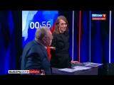 Ксения Собчак плеснула водой в лицу Жириновскому, в ответ на это он назвал ее