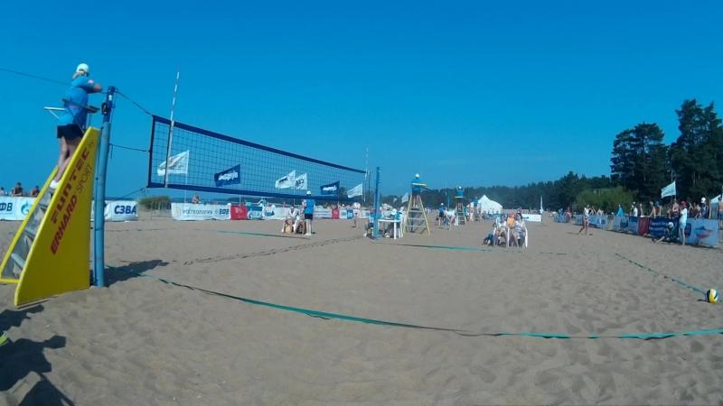 Beach volley Russia Solnechnoe 2018 W 03 Rudykh-Zayonchkovskaya and Aksenenko-Aganina