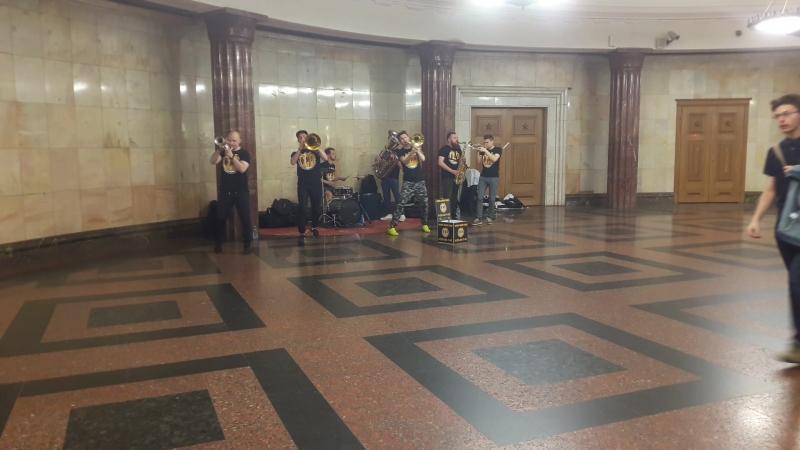 BREVIS BRASS BAND метро Курская 18 мая 2018г Дельтаплан
