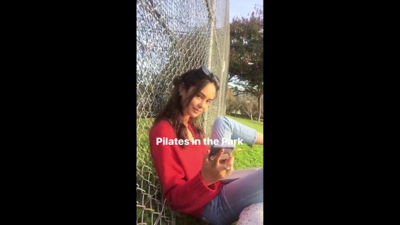 Личное видео из инстаграм-истории Бриттани (09/12/17)