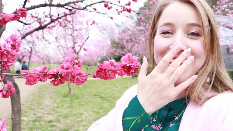 【えりあし】花桃を見に茨城県突入!花好きにはたまらない楽園のような場所だった!🌸