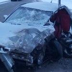 Два автомобиля столкнулись на трассе «Алексеевск-Билярск»