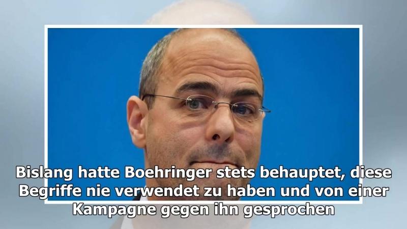-Der Spiegel- - AfD-Politiker Boehringer soll Kanzlerin doch beschimpft haben