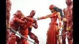 Hasbro Marvel Legends Spdr BAF wave ELEKTRA Action Figures Review