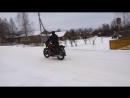 На мотоцикле ИЖ