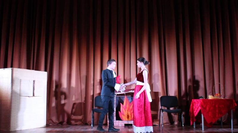 Сцена из комедии Н.В. Гоголя