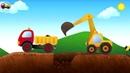 Развивающий мультик.Мультфильм про машинки Грузовичек ТОНИ на строительной площадке.
