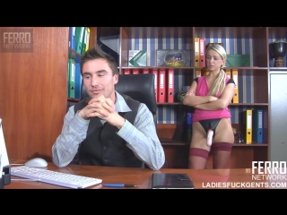 Anal Fucking at the Office [Femdom, Russian, Strapon, Pegging, 720p]