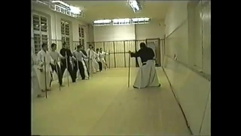 4 упражнение для примерной тренировки АЙКИ ДЗЁ для начинающих. Тренировка навыка движения из вертикального положения дзё. Москва