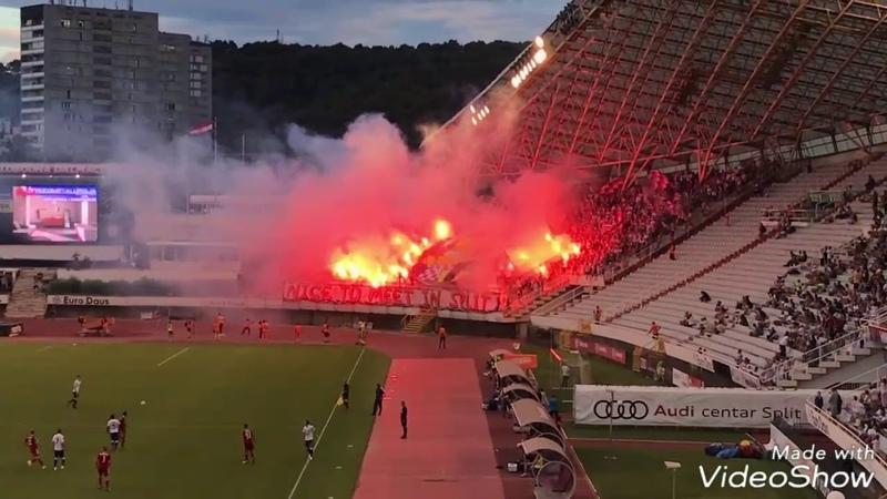 Torcida Split Zabrze Hajduk 4 0 Gornik 29 06 2018