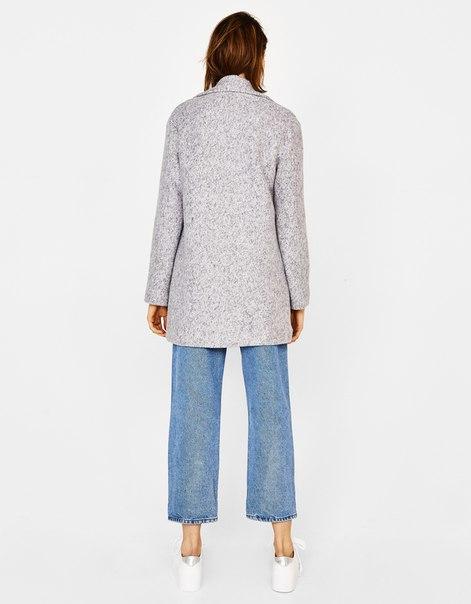 Пальто из буклированной ткани