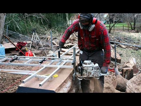 Milling HUGE WALNUT slabs with a portable Chainsaw Mill