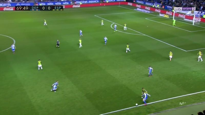 Чемпионат Испании 2017-18 25-й тур Депортиво – Эспаньол 2 тайм [720, HD]