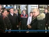 Президент Владимир Путин прибыл на Урал и встретился с рабочими Уралвагонзавода.