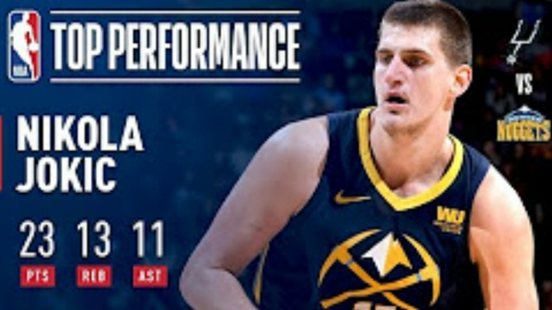 Nikola Jokic Notches a Triple-Double 23/13/11 vs. Spurs