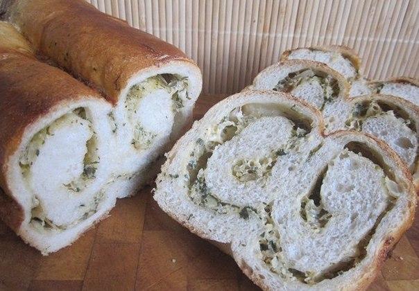 Хлеб с сырно-луковой начинкой