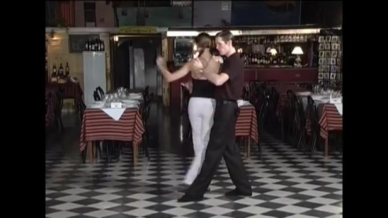 Танго в теневой позиции 04 Переход из салиды