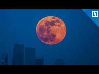 Огромная красивая луна в США