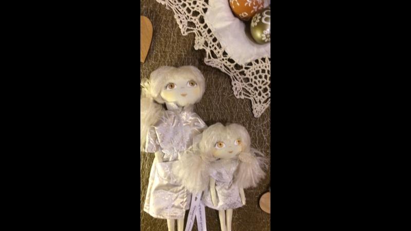 Пасхальные Ангелы - Хранители 😇👼🏻 Мама с дочкой 👩👧- это авторские , текстильные куколки ручной работы 👐.