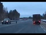 Северодвинск - Архангельск. Потерял колесо. Минус одна машина ДПС.