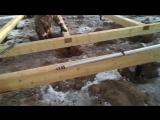 обвязка фундамента из бруса