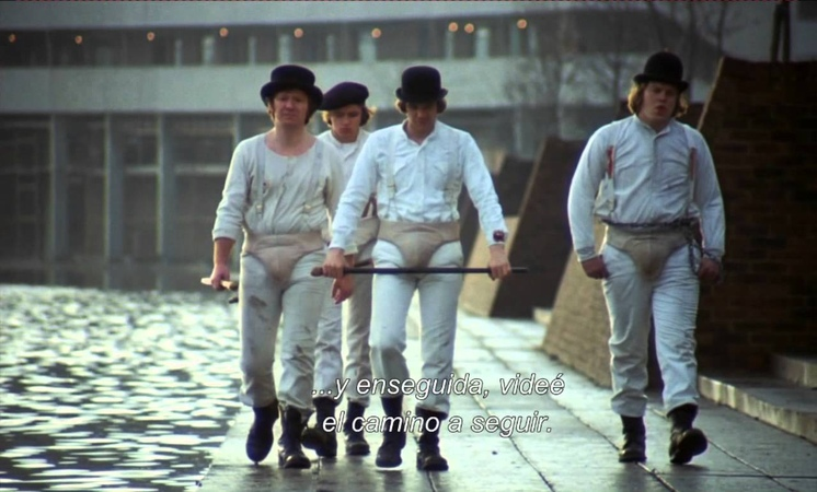 A clockwork orange - Alex puts his Droogs in place HD