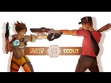 Tracer & Scout | 「TF2 & OVERWATCH GMV」