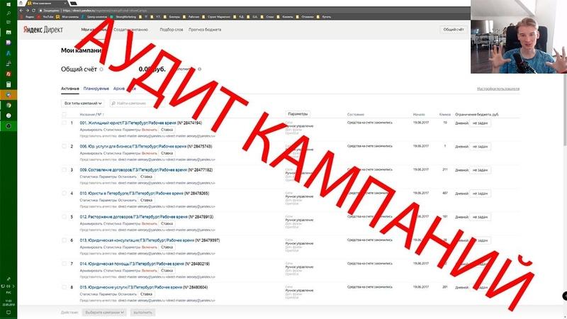 Аудит Яндекс Директ от Виталия Стронга