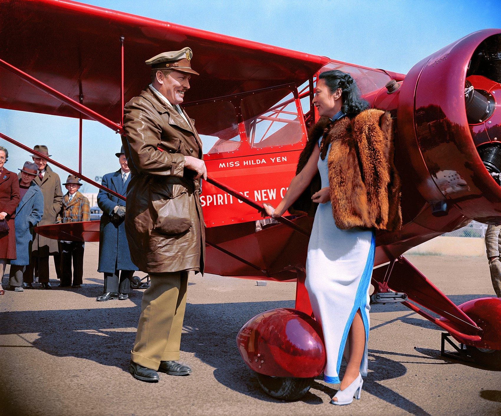 Miss Hilda Yen, Chinese Aviatrix, Washington, D.C. '1939