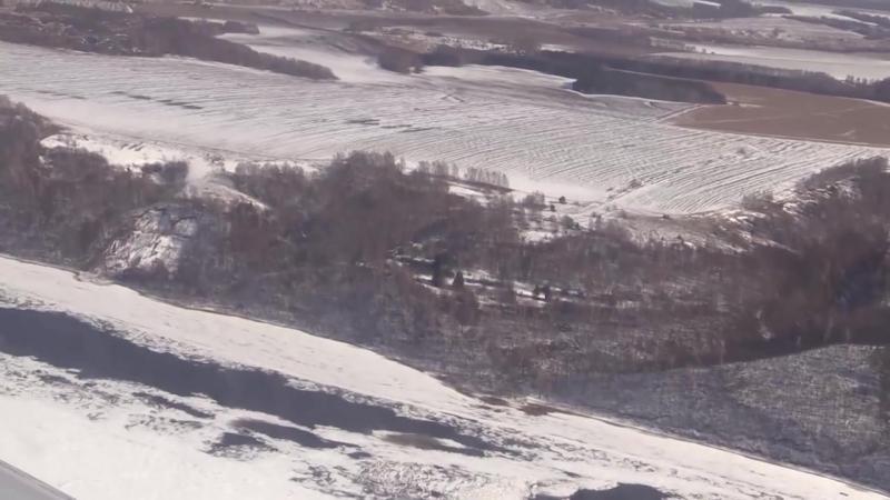 Облет на вертолете - Нижегородская область. Половодье.