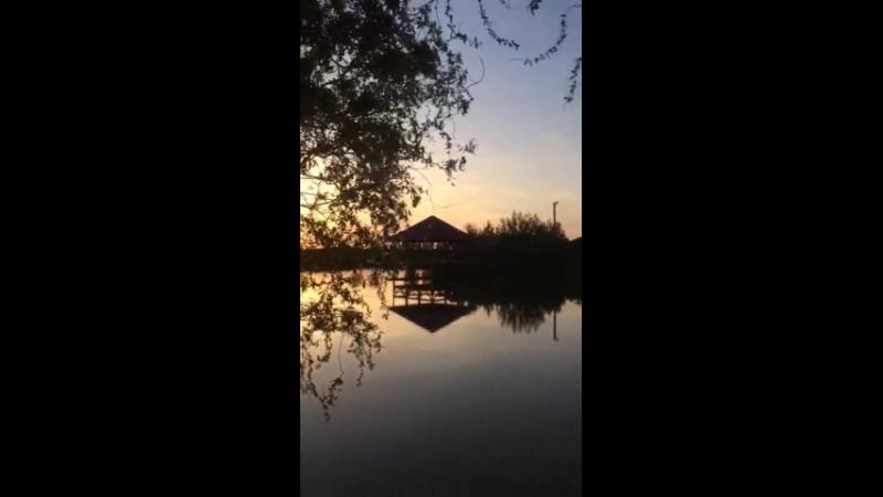 Вечер на рыболовной базе отдыха Кубанский хутор