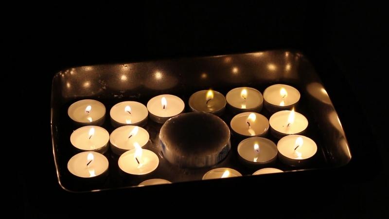 Тушение свечек углекислотой