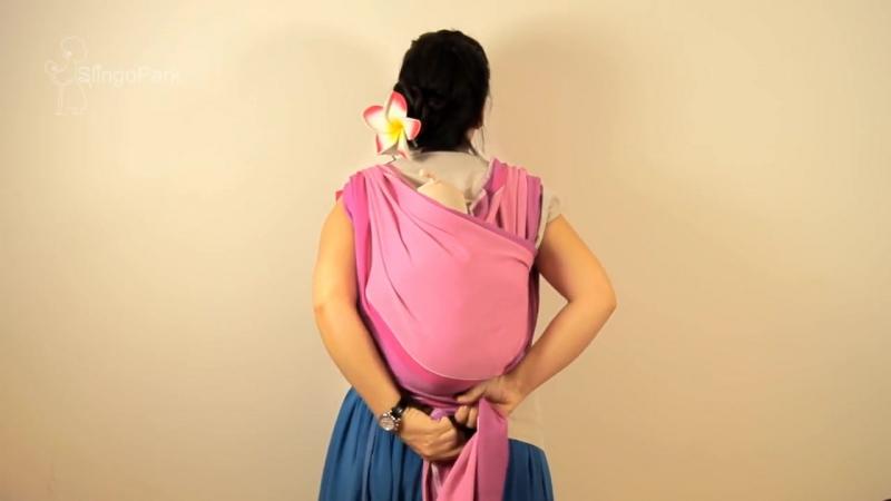 Слинг-шарф, намотка Двойное ребозо _ Двойной гамак (1)