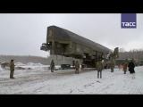 Кадры загрузки ракеты Ярс в шахтную пусковую установку