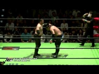 Ohara, Kumano, Taniguchi vs. Saito, Inoue, Ogawa (NOAH - Navigation with Emerald Spirits 2018)