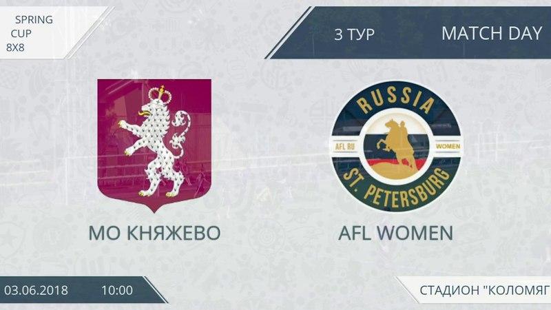 AFL women. Spring Cup 2018. Розыгрыш кубка. 4-й тур. Группа B. МО Княжево - AFL women.