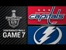 Washington Capitals vs Tampa Bay Lightning – May. 23, 2018 | Game 7 | Stanley Cup 2018.