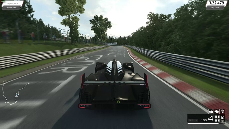 Raceroom Racing Experience: Audi R18 TDI Test with XBO Gamepad at Nordschleife