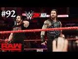 WWE 2K18 Roman Reigns &amp Seth Rollins vs Jinder Mahal &amp Elias WWE Raw 92