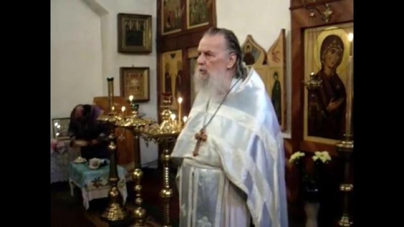 Священник Павел Адельгейм Проповедь на Литургии в храме святых Жен Мироносиц Псков 8 7 2010