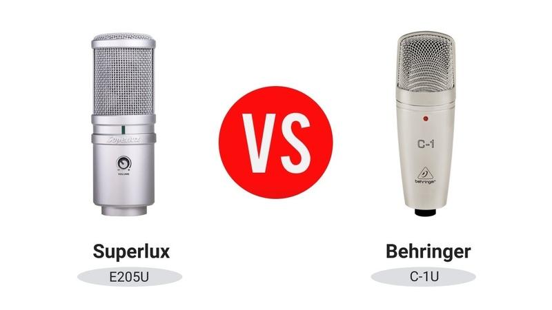 Сравнение [Behringer C-1U и Superlux E205U]