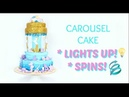 CAROUSEL CAKE TUTORIAL - CAKE THAT LIGHTS UP AND SPINS!