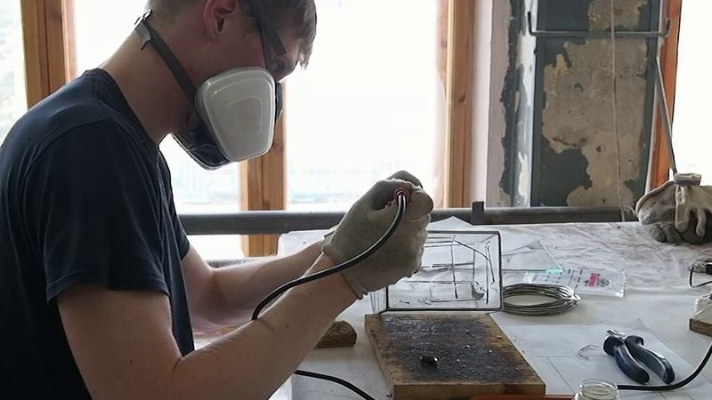 Изготовление флорариума Дом в мастерской ГРАНЬ