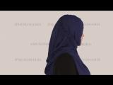 Как одевать готовый хиджаб : INSTANT V BRAIDED JERSEY BLUE  - #27 модель видео коллекции