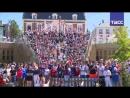 Французские болельщики смотрят матч Франция — Дания