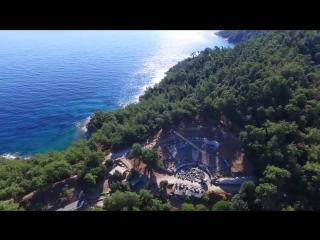 Остров Тасос с высоты птичьего полета  -  greek islands, greece