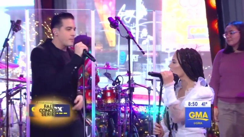 G Eazy Halsey Perform Him I (GMA LIVE) | NY the TimeSquare