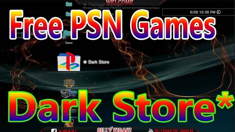 How To Download Free PS3 Games And Mods With Dark Store For ( HAN PS3 )