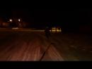 Skiing in winter. Покатушки на тарелке зимой за машиной! прикол. Pokatushki.mp4